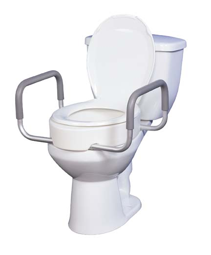 Astonishing Premium Raised Toilet Seat With Removable Arms Elongated Toilets Caraccident5 Cool Chair Designs And Ideas Caraccident5Info