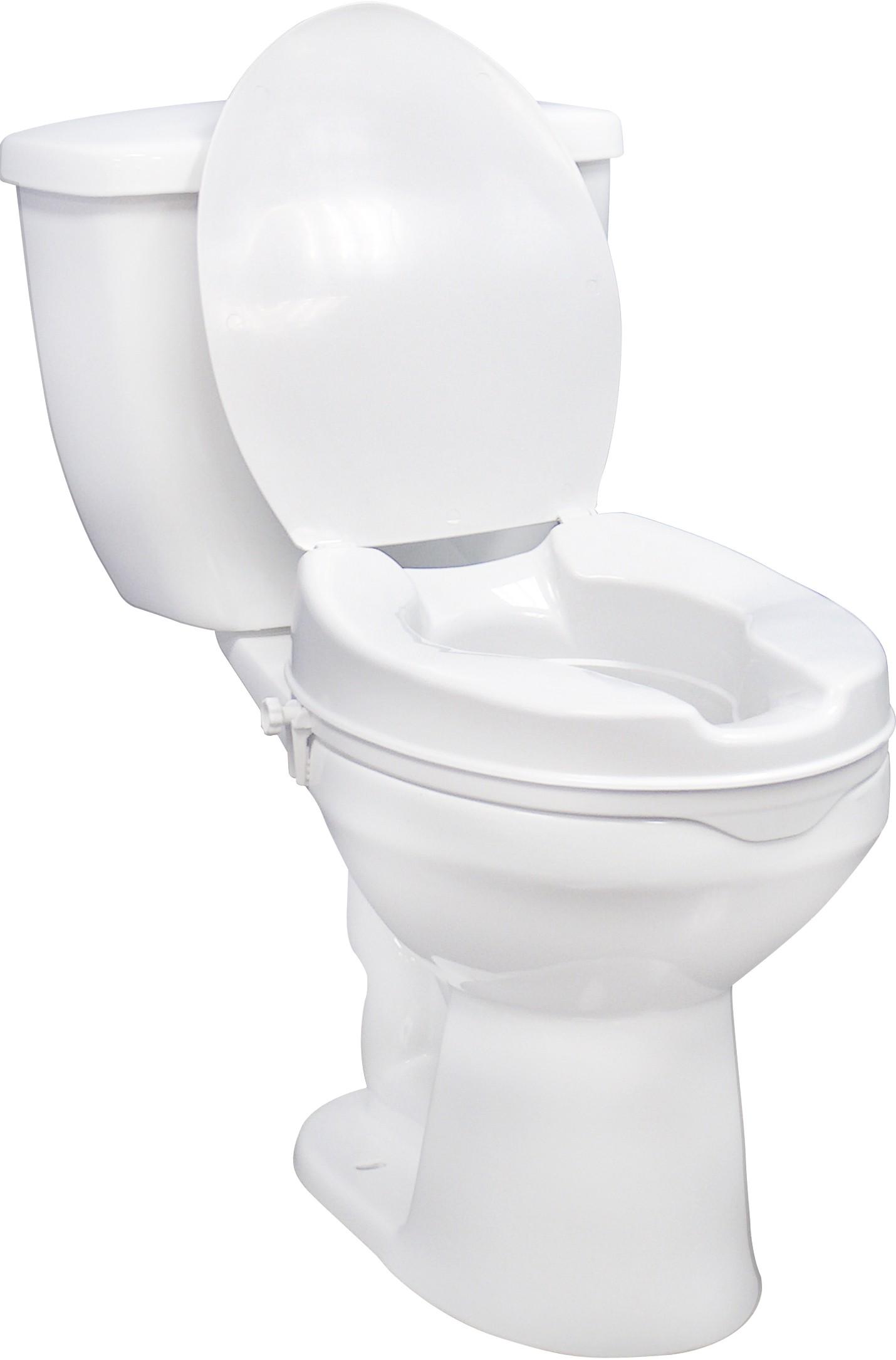Enjoyable 2 Raised Toilet Seat With Lid Creativecarmelina Interior Chair Design Creativecarmelinacom
